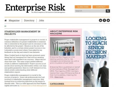 Karlene-agard's-featured-in-enterprise-risk-website